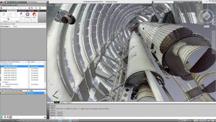 Laser Scanning project at the National Space Centre, Leicester